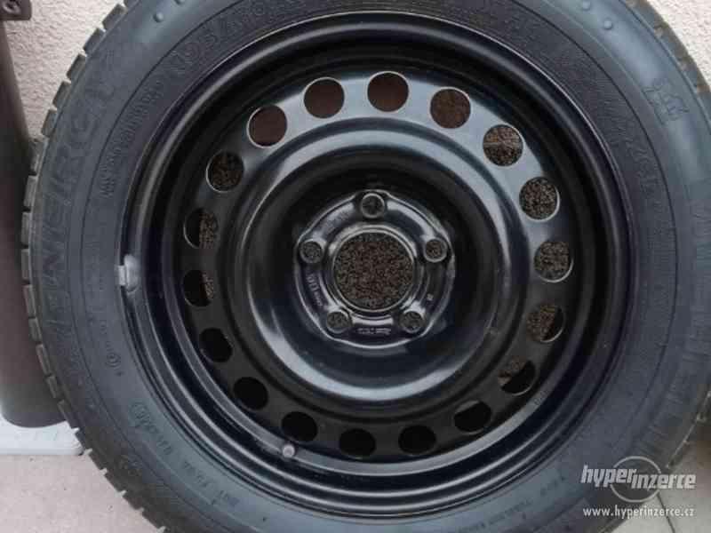 Opel – plechové disky +letní a zimní pneu 195/60R15, 6J x 15 - foto 2