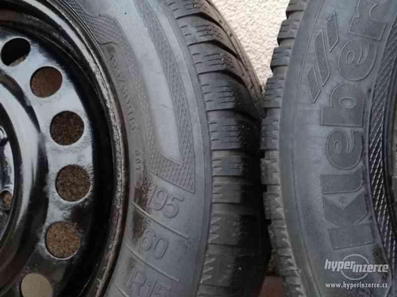 Opel – plechové disky +letní a zimní pneu 195/60R15, 6J x 15 - foto 7