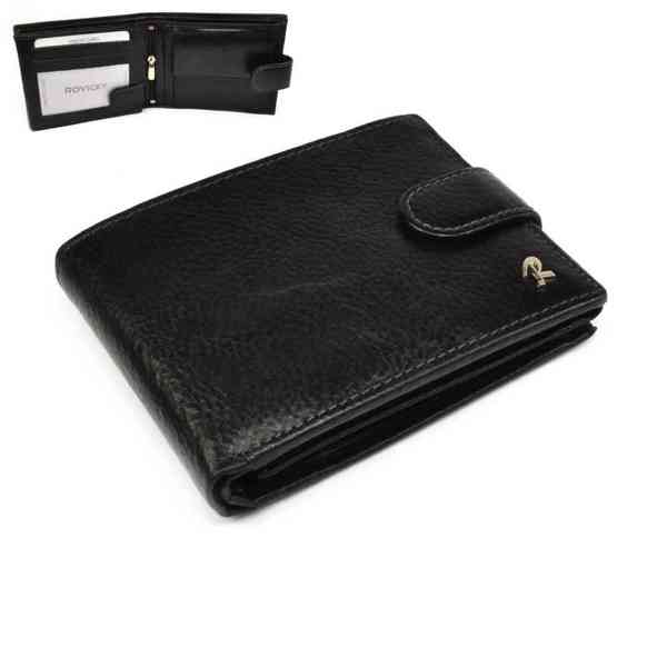 Pánská černá peněženka kožená - foto 1