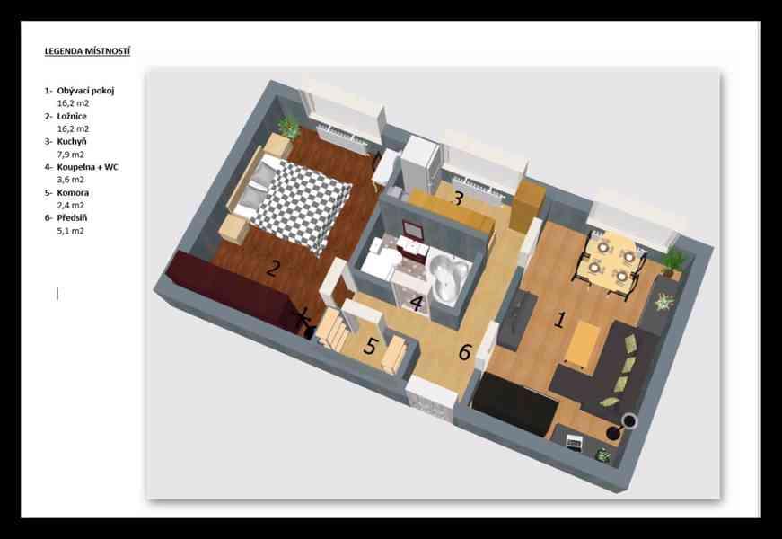 Byt 2+1 54m2 po rekonstrukci v Přelouči-ihned k nastěhování  - foto 9