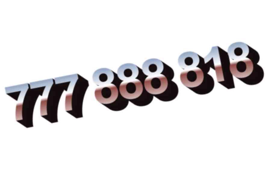 Zlaté číslo 777 888 818 - foto 1
