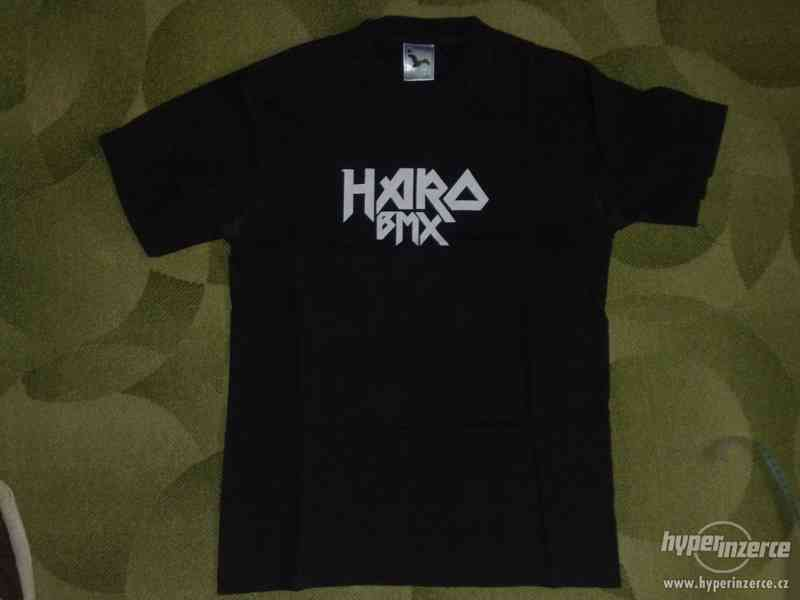 Tričko Haro BMX velikost M černé.