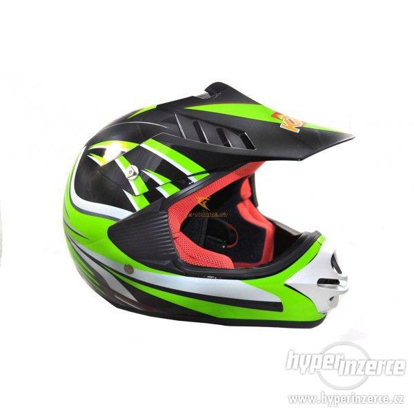 Dětská moto helma krossová dětská moto přilba nová