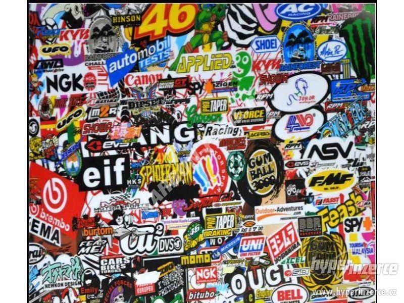 STICKERBOMB - GRAFFITI FOLIE 3D tvarovatelná - šíře 152cm - foto 1