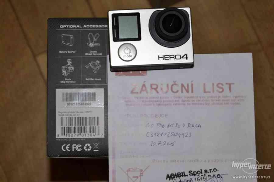 Gopro Hero 4 black + 64GB Sandisk extreme + příslušenství - foto 13