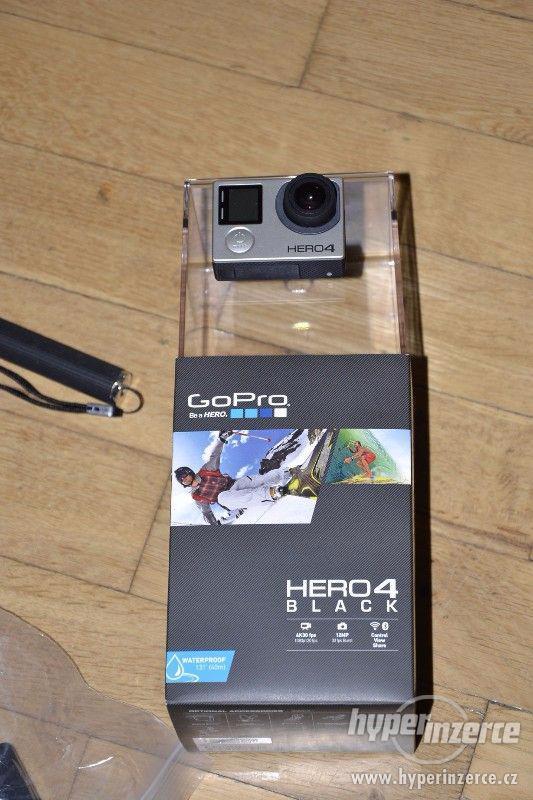 Gopro Hero 4 black + 64GB Sandisk extreme + příslušenství - foto 1