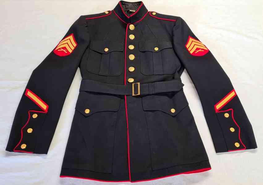 USMC Blue Dress Coat 1971, sako 41R, brigadýrka 54