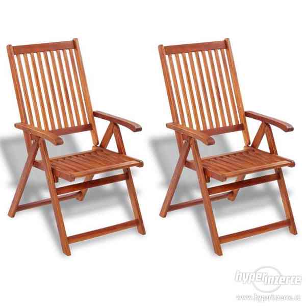 Zahradní jídelní židle 2 ks akáciové dřevo, zn. vidaXL