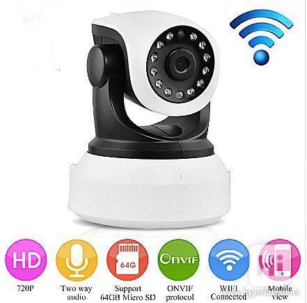 HD Wi-fi kamera, IP s nočním viděním, 720p - foto 1