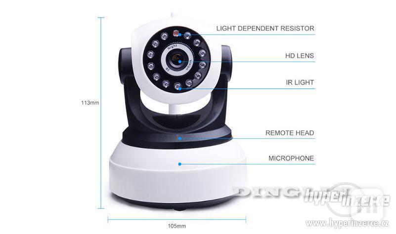 HD Wi-fi kamera, IP s nočním viděním, 720p - foto 2