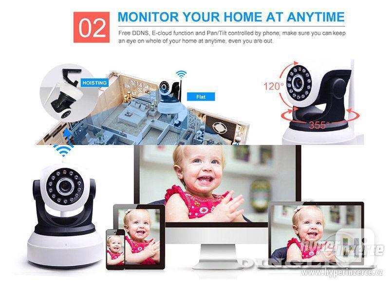 HD Wi-fi kamera, IP s nočním viděním, 720p - foto 4