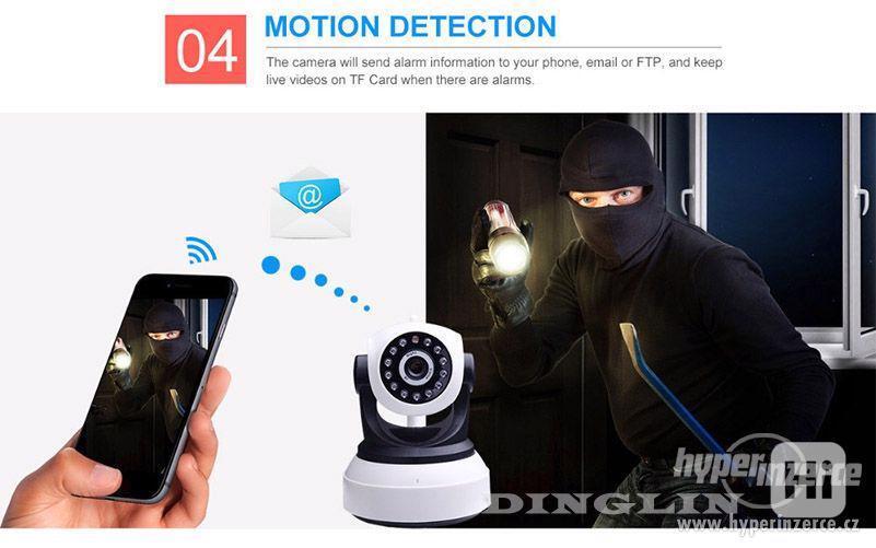 HD Wi-fi kamera, IP s nočním viděním, 720p - foto 9
