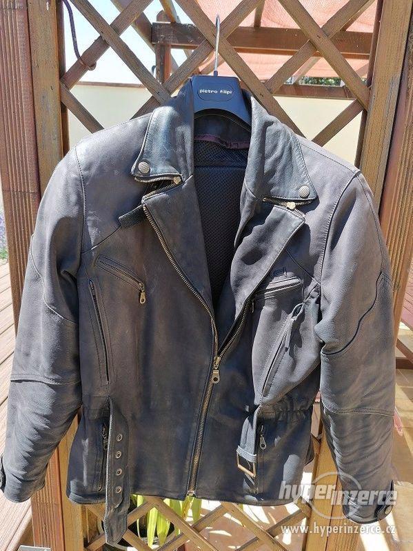 Kožená motorkářská bunda HELD + kalhoty
