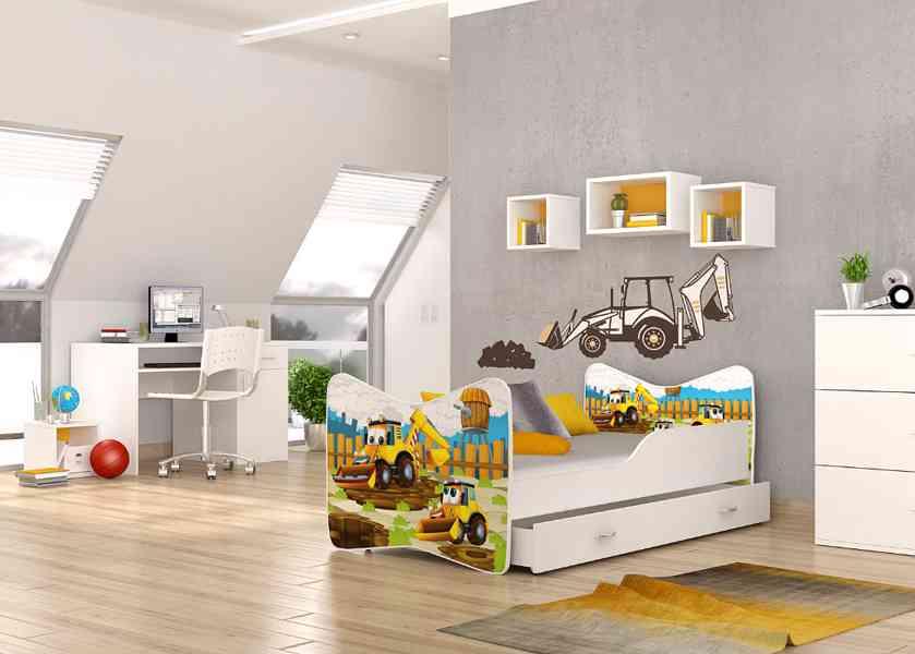 Dětská postel s matrací a roštem