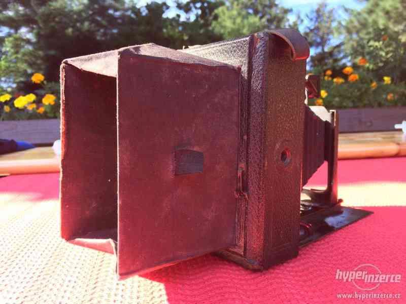 Historický fotoaparát Leonar - Werke 9x12 cm - foto 5