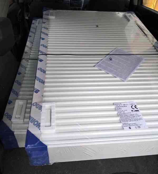 RADIÁTOR RADIK VKL 33 V=900mm, D=1400mm s držáky, NOVÉ - foto 1