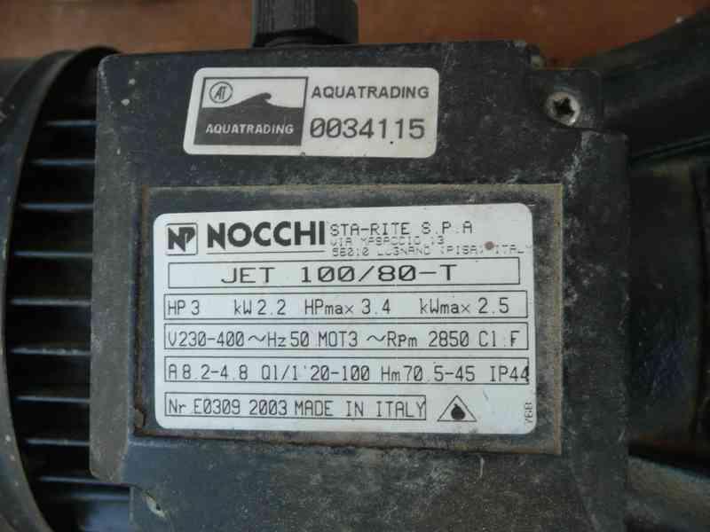 Samonasávací čerpadlo Nocchi JET 100/80 T - foto 3