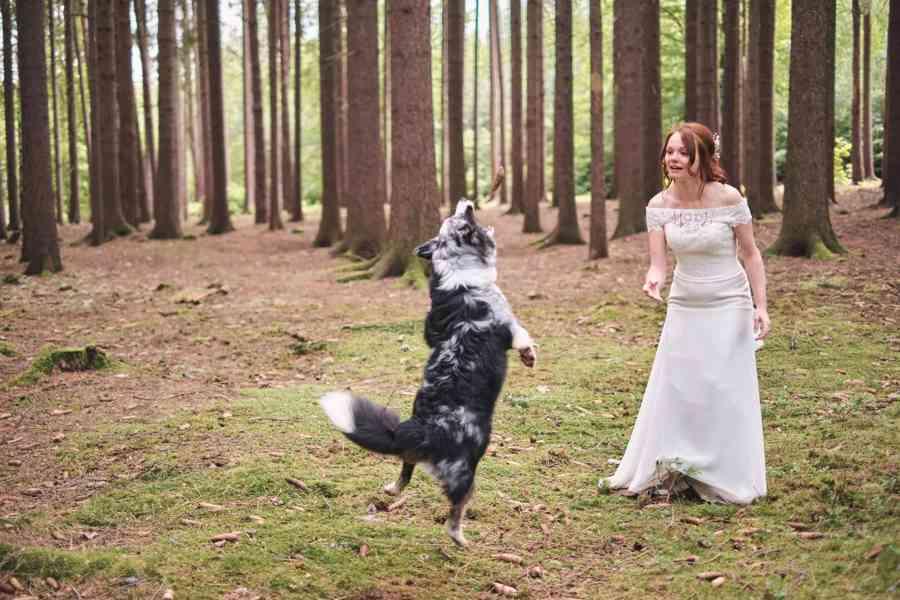 Nádherné svatební šaty vel. 32-34 barva krémová/champagne - foto 4