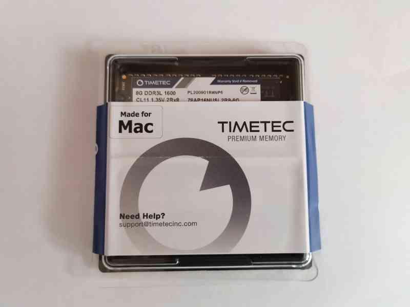 2x8GB RAM (16GB Kit) SODIMM paměť DDR3L 1600MHz pro Mac NOVÉ - foto 1