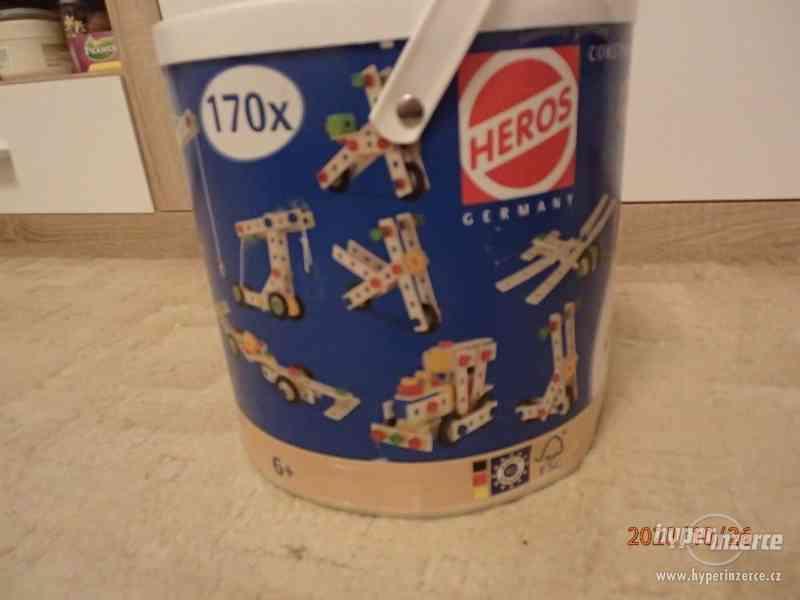 šroubovací dřevěná stavebnice Heros constructor