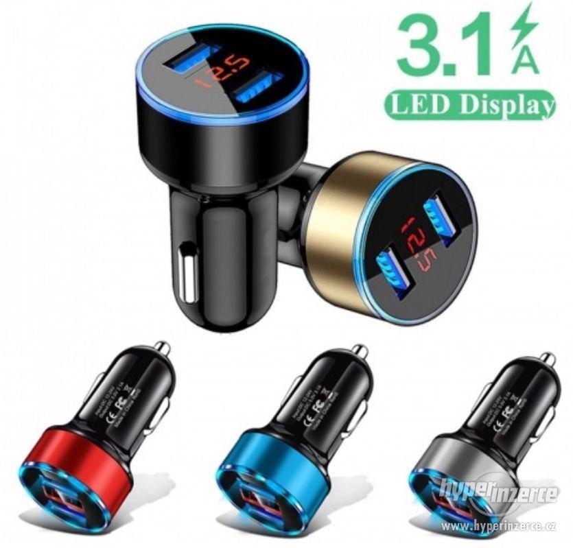 CL redukce USB nabíječka s voltmetrem do auta nové - foto 1