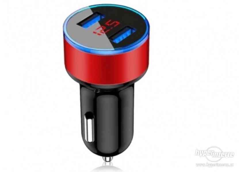 CL redukce USB nabíječka s voltmetrem do auta nové - foto 2