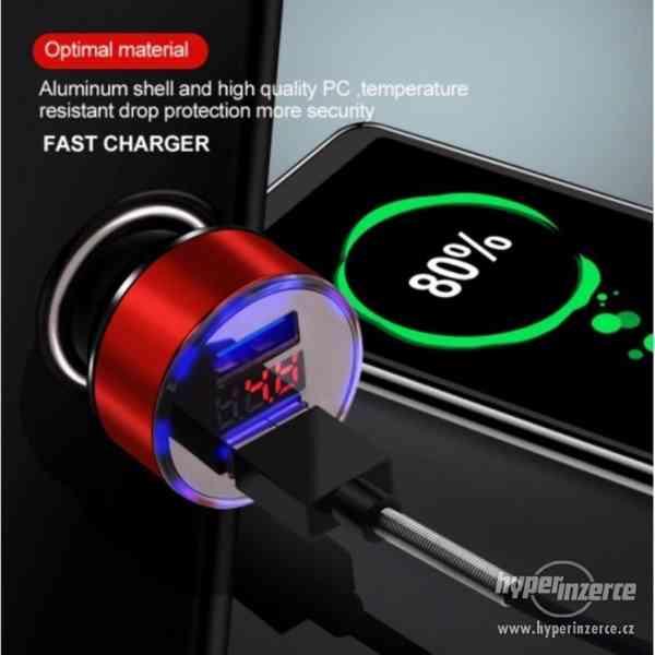 CL redukce USB nabíječka s voltmetrem do auta nové - foto 5