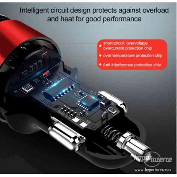 CL redukce USB nabíječka s voltmetrem do auta nové - foto 7