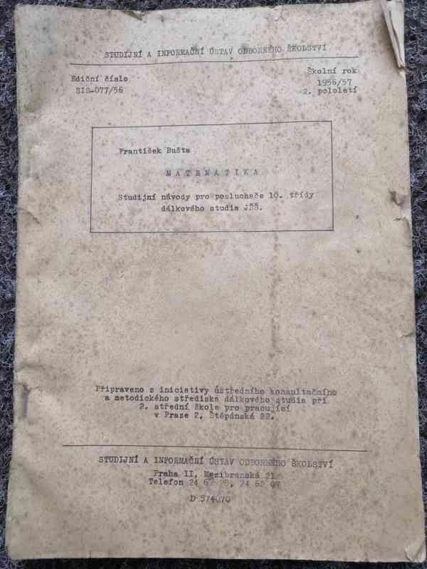 **PERFEKTNÍ STAV** Matematika, školní rok 1956/57 2. pololet