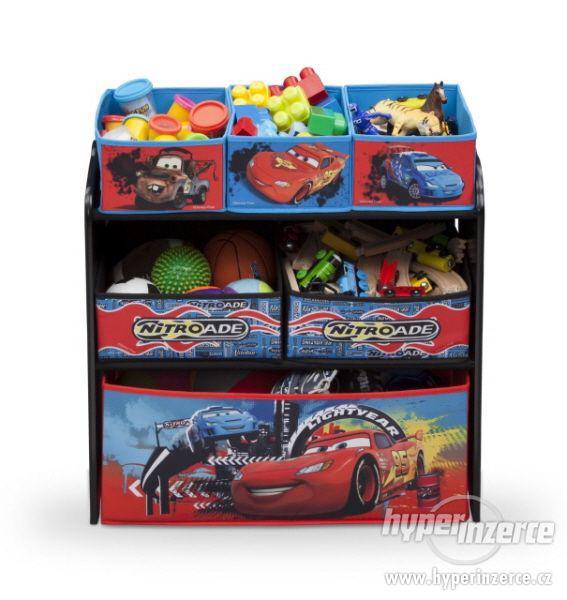 Dětský regál komoda na hračky Auta Cars