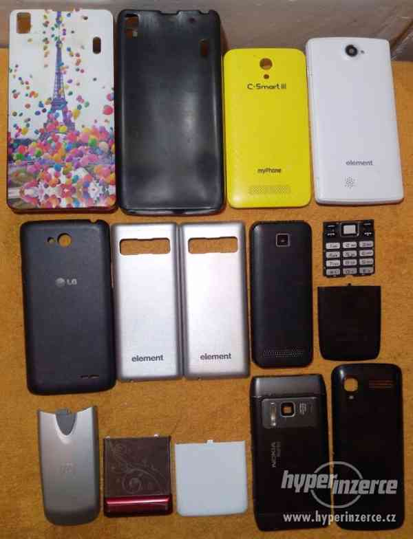 Zadní kryty z nefungujících mobilů -LEVNĚ!!!
