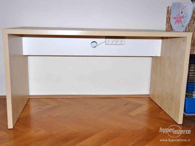 Psací stůl IKEA březová dýha - foto 3