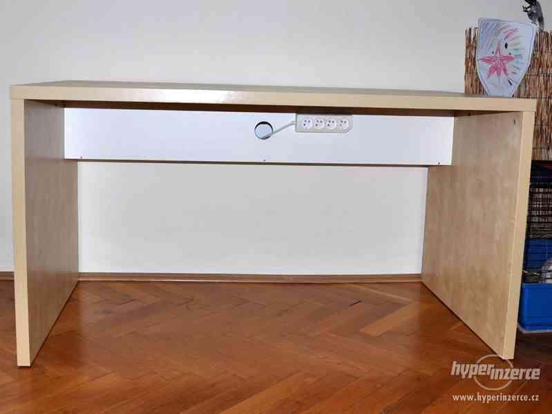 Psací stůl IKEA březová dýha - foto 8