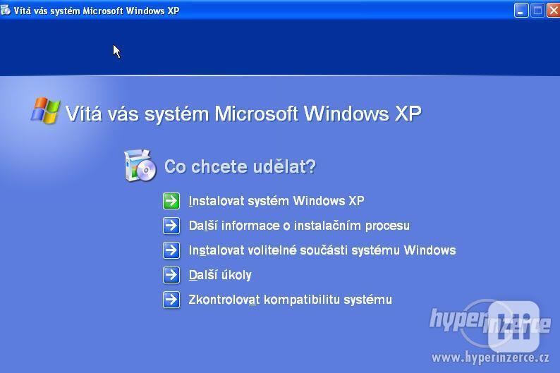 Windows XP Professional, originální licenční štítek + CD SP3