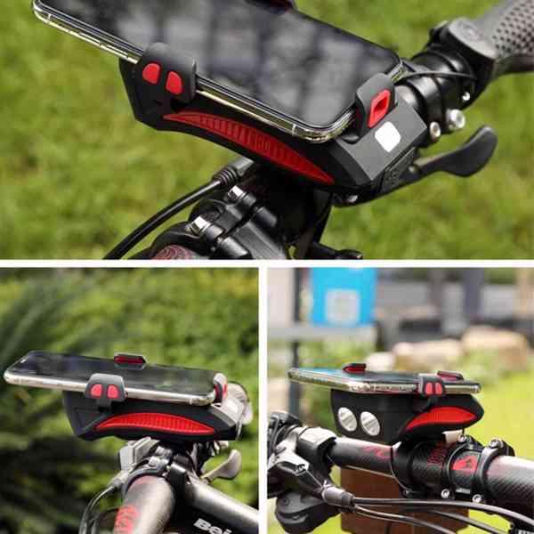 Světlo na kolo (4 v 1) 550Lm, 2400mAh  - foto 4