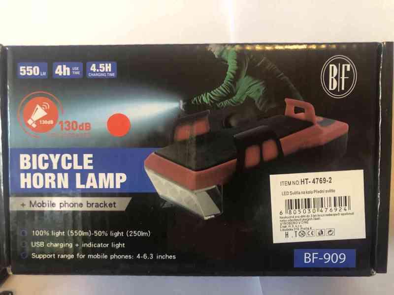Světlo na kolo (4 v 1) 550Lm, 2400mAh  - foto 13