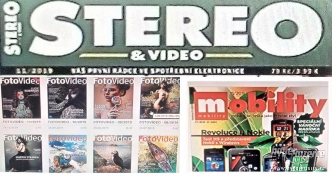 Časáky:Kino,StereoVideo,FotoVideo, KNIHY+ nábytek a techniku