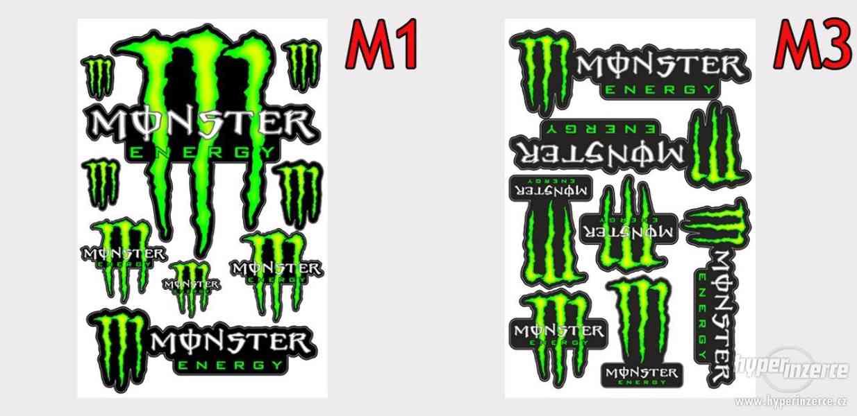 Samolepky Monster, Fox, Rockstar, GoPro, Akrapovič, Michelin