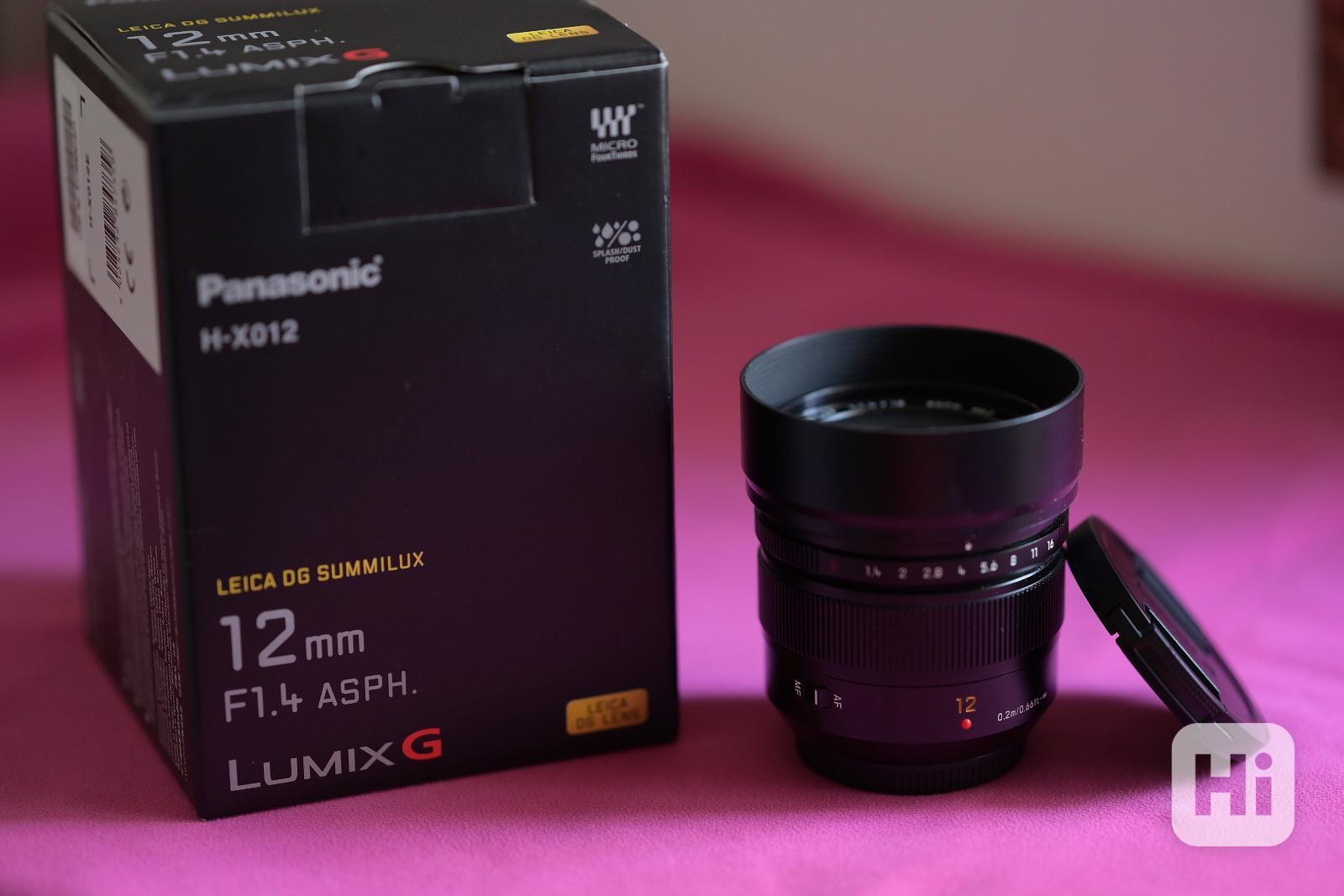 Objektiv PANASONIC 12 mm f/1,4 ASPH LEICA - foto 1