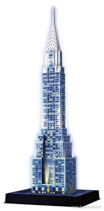 Nové 3D Puzzle Chrysler building (Noční edice) 216 dílků - foto 1