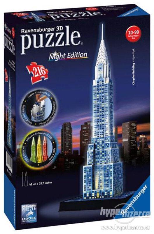 Nové 3D Puzzle Chrysler building (Noční edice) 216 dílků - foto 2