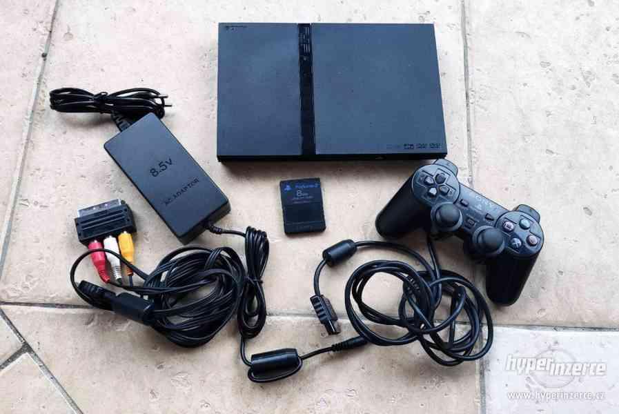 Playstation 2 Slim kompletní (černý)