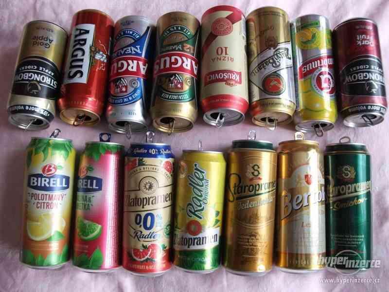 Pivní plechovky + korunkové uzávěry - foto 4