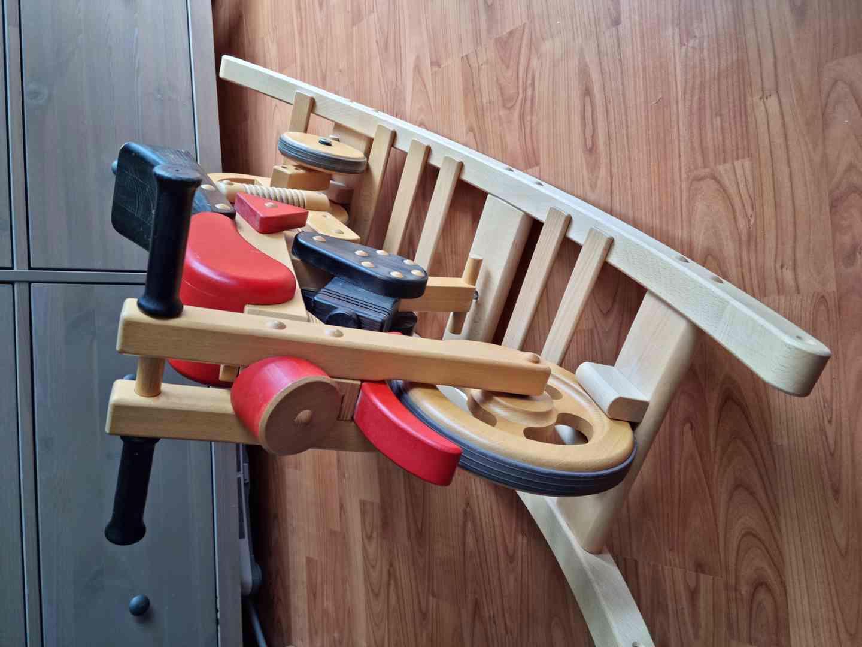 Dětské dřevěné odrážedlo motorka / houpačka