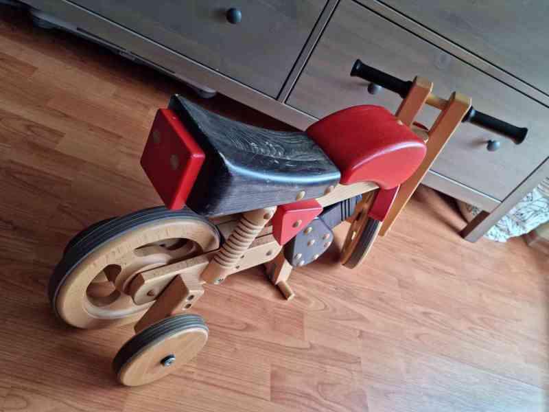 Dětské dřevěné odrážedlo motorka / houpačka - foto 5