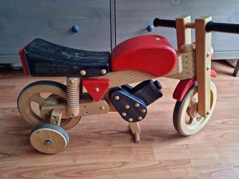 Dětské dřevěné odrážedlo motorka / houpačka - foto 4