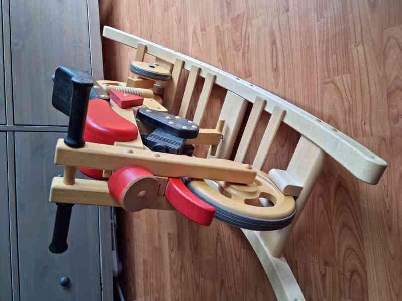 Dětské dřevěné odrážedlo motorka / houpačka - foto 1
