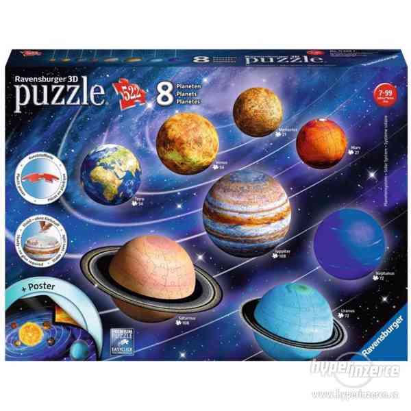 Ravensburger 3D Puzzle Planetární soustava (nepoužitá) - foto 1