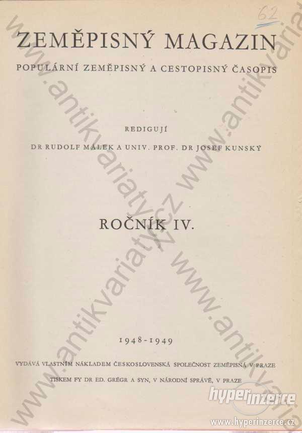 Zeměpisný magazín 1948-1949 - foto 1
