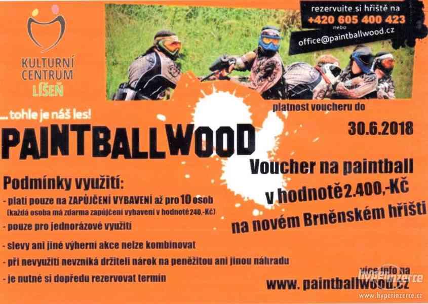 Voucher na paitball až pro 10 osob v Brně